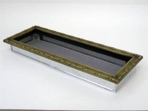 Вентиляционная решетка Kratki 17x49 Диана латунь