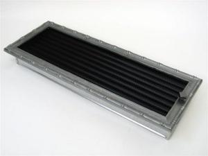 Вентиляционная решетка Kratki 17x49 Диана хром с жалюзи