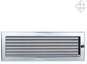 Вентиляционная решетка Kratki 17x49 Никелированная с жалюзи