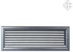 Вентиляционная решетка Kratki 17x49 Оскар графитовая с жалюзи