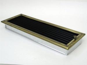 Вентиляционная решетка Kratki 17x49 Оскар латунь с жалюзи