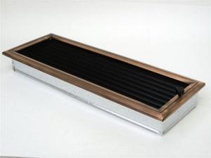 Вентиляционная решетка Kratki 17x49 Оскар медь с жалюзи