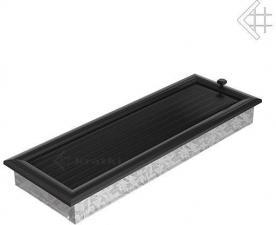 Вентиляционная решетка Kratki 17x49 Оскар черная с жалюзи