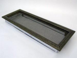 Вентиляционная решетка Kratki 17x49 Оскар черная/латунь