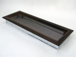 Вентиляционная решетка Kratki 17x49 Оскар черная/медь