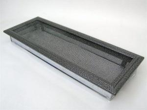 Вентиляционная решетка Kratki 17x49 Оскар черная/хром