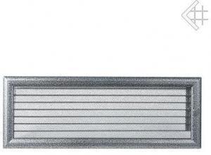 Вентиляционная решетка Kratki 17x49 Оскар черная/хром с жалюзи