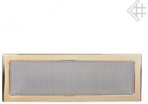 Вентиляционная решетка Kratki 17x49 Полированная латунь