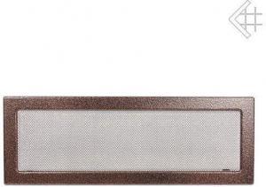 Вентиляционная решетка Kratki 17x49 Черная/медь пористая