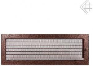 Вентиляционная решетка Kratki 17x49 Черная/медь пористая с жалюзи