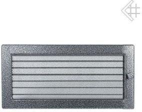 Вентиляционная решетка Kratki 17x49 Черная/хром пористая с жалюзи