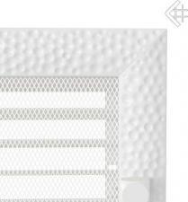 Вентиляционная решетка Kratki 22x22 Venus белая с жалюзи
