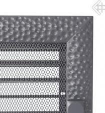 Вентиляционная решетка Kratki 22x22 Venus графитовая с жалюзи