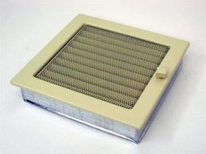 Вентиляционная решетка Kratki 22x22 Бежевая с жалюзи