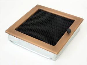 Вентиляционная решетка Kratki 22x22 Гальваника под медь с жалюзи