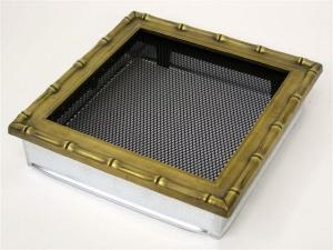 Вентиляционная решетка Kratki 22x22 Диана латунь