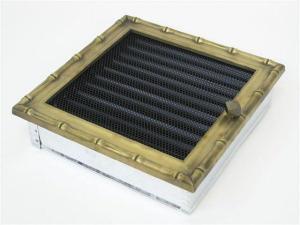 Вентиляционная решетка Kratki 22x22 Диана латунь с жалюзи