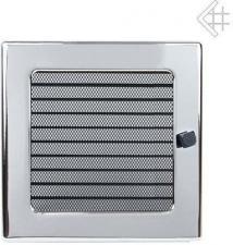 Вентиляционная решетка Kratki 22x22 Никелированная с жалюзи