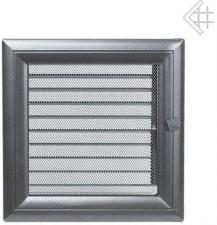 Вентиляционная решетка Kratki 22x22 Оскар графитовая с жалюзи