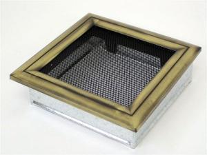Вентиляционная решетка Kratki 22x22 Оскар латунь