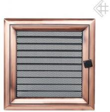 Вентиляционная решетка Kratki 22x22 Оскар медь с жалюзи