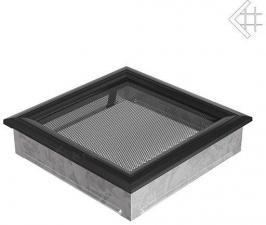 Вентиляционная решетка Kratki 22x22 Оскар черная