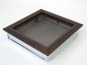 Вентиляционная решетка Kratki 22x22 Оскар черная/медь