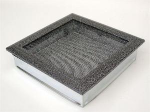 Вентиляционная решетка Kratki 22x22 Оскар черная/хром