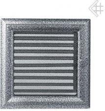 Вентиляционная решетка Kratki 22x22 Оскар черная/хром с жалюзи