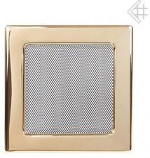 Вентиляционная решетка Kratki 22x22 Полированная латунь