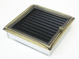 Вентиляционная решетка Kratki 22x22 Рустик с жалюзи