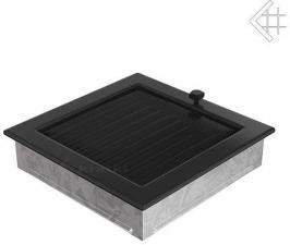 Вентиляционная решетка Kratki 22x22 Черная с жалюзи