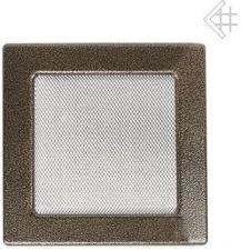 Вентиляционная решетка Kratki 22x22 Черная/латунь пористая