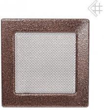 Вентиляционная решетка Kratki 22x22 Черная/медь пористая