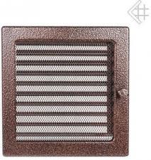 Вентиляционная решетка Kratki 22x22 Черная/медь пористая с жалюзи