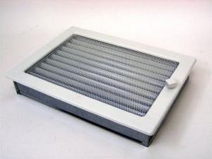 Вентиляционная решетка Kratki 22x30 Белая с жалюзи