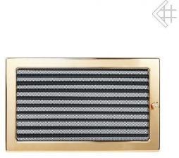 Вентиляционная решетка Kratki 22x30 Полированная латунь с жалюзи