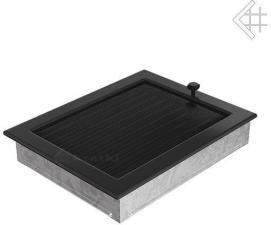 Вентиляционная решетка Kratki 22x30 Черная с жалюзи