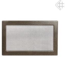 Вентиляционная решетка Kratki 22x30 Черная/латунь пористая