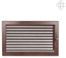 Вентиляционная решетка Kratki 22x30 Черная/медь пористая с жалюзи