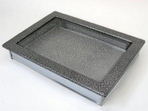 Вентиляционная решетка Kratki 22x30 Черная/хром пористая