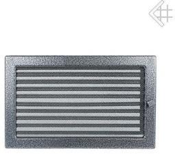 Вентиляционная решетка Kratki 22x30 Черная/хром пористая с жалюзи