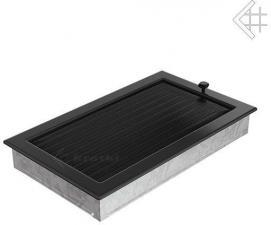Вентиляционная решетка Kratki 22x37 Черная с жалюзи