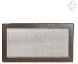 Вентиляционная решетка Kratki 22x37 Черная/латунь пористая