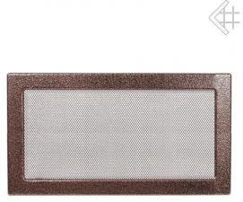 Вентиляционная решетка Kratki 22x37 Черная/медь пористая