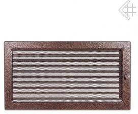 Вентиляционная решетка Kratki 22x37 Черная/медь пористая с жалюзи