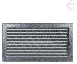 Вентиляционная решетка Kratki 22x37 Черная/хром пористая с жалюзи