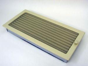 Вентиляционная решетка Kratki 22x45 Бежевая с жалюзи