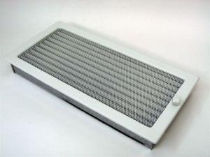 Вентиляционная решетка Kratki 22x45 Белая с жалюзи
