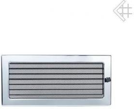 Вентиляционная решетка Kratki 22x45 Никелированная с жалюзи